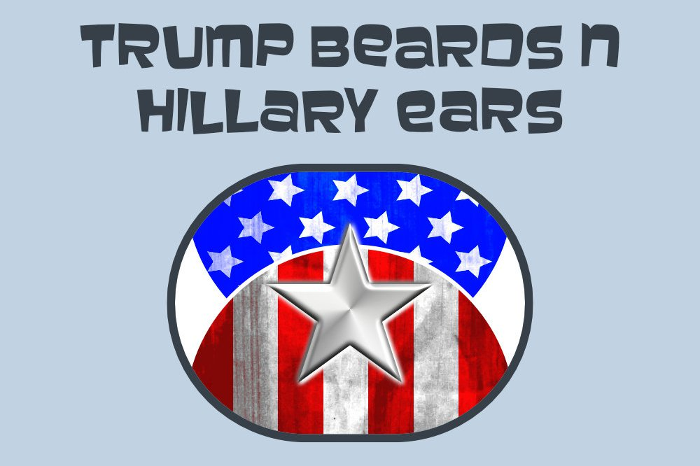 Trump Beards n Hillary Ears iMessage digital stickers - Featured Image