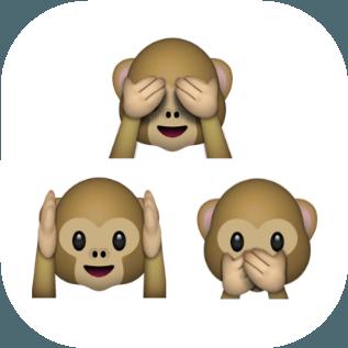 No See Hear Speak Emoji